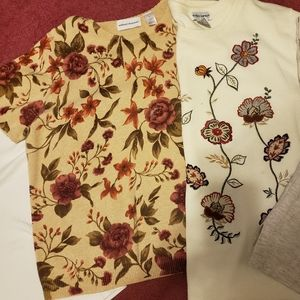 5 Used Short Sleeves Women's Shirts XL